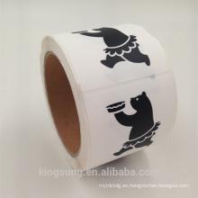 impresión en negro Pegatinas de vinilo personalizadas para alimentos