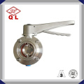 Sanitary Stainless Steel Clamped Butterfly Valve