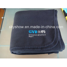 Navy Blue Customed Fleece Blanket (SSB0126)