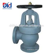 Contrôle fabricant Contrôle sanitaire F7306 / 7308/7310 Vanne à soupape du type à angle en fonte pour vapeur 2cr13