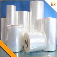 Film plastique transparent thermorétractable en PVC