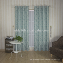Neuer Ankunfts-hoher Geschmack kleiner Blattentwurf 100% Polyester-Leinen wie Jacquardwebstuhl-Fenster-Vorhang
