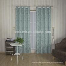 Lino del poliester del diseño 100% de la pequeña hoja de la llegada del alto gusto de la llegada nuevo como la cortina de ventana del telar jacquar