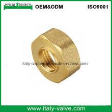 Tuerca hexagonal de cobre amarillo de la calidad modificada para requisitos particulares certificada ISO9001 (AV-BF-7041)