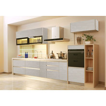 Gabinete de cozinha acrílica UV de alto brilho com estilo forro P-009