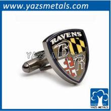 personalize abotoaduras de metal, abotoaduras de NFL feitas sob medida