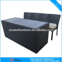 Comptoir et tabouret élégant extérieur de barre de meubles de rotin (CF819T)