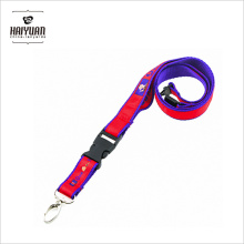 Alta calidad doble capas de tinte Sublimation Imprint satinado Lanyard