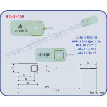 Kunststoffdichtung BG-S-009, Kunststoff-Sicherheitssiegel für Taschen verwenden