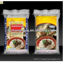 Fabricant de sachet de riz tissé 25 kg