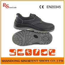 PU Sole Black Steel Cheap Safety Shoes RS812