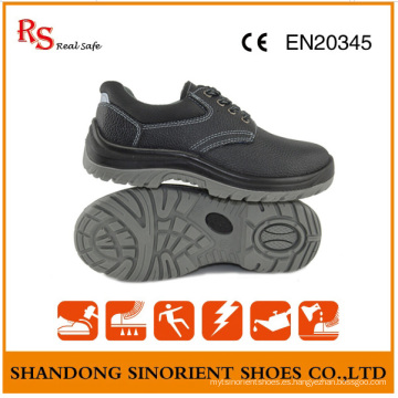 Zapatos de seguridad baratos de acero negro PU Sole RS812