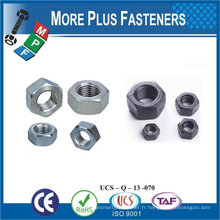 Fabriqué à Taiwan En acier inoxydable en laiton Aluminium Silicone Bronze Hex Machine Screw Nut
