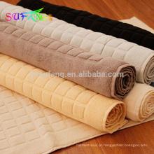 Tapete de banheiro do hotel / 100% algodão banho toalha de banho hotel jacquard mat