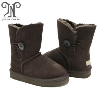 Girls Bailey Button Faux Shearling Fur Snow Boots