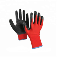Latex coated  safety  glove nitrile  grip gloves