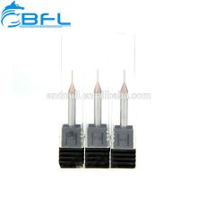Micro épaisseur de fraise en bout de diamètre de carbure BFL 0.1 / 0.2 / 0.3 / 0.4 / 0.5 / 0.6 / 0.7 / 0.8 / 0.9MM