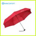 Parapluie pliant automatique ouvert et fermé rouge 3
