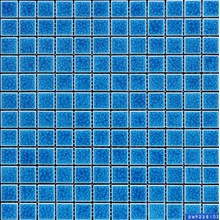 Mosaico in gres smalto blu Cracking