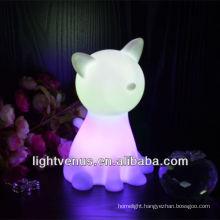 cat shape Christmas light gift decor LED RGB color changing anime night light