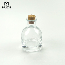 household 100ml semicircle glass reed diffuser aroma bottle with cork