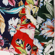 Printed Summer Fine and Thin Linen Fabric