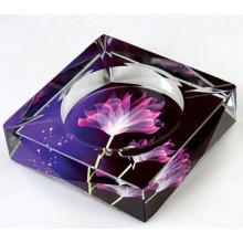 Cinzeiro de charuto de cristal colorido para decoração de casa