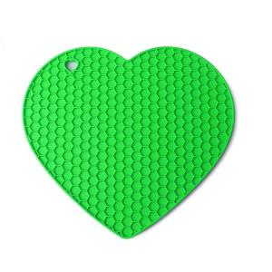 Table Coaster Heart Shape Red Silicone Mat