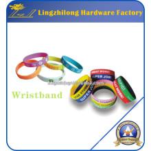 Bandas de pulseras de pulsera de caucho de silicona para fiesta