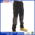 Custom Made Black Work Pants for Men with Knee Pad (YWP112)