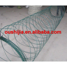 high quality low price BTO-10 PVC coated razor barbed wire with different color(factory)
