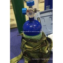 Cylindre d'oxygène médical à haute pression avec paquet de sachet