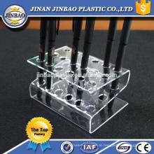 Jinbao atacado Clear Pen Display Stand Maquiagem Escova de acrílico carrinho de cosméticos