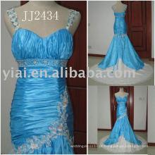 2011 mais recente gota elegante frete frete grátis meimaid estilo frisado sweethart brilhante vestido de casamento de sereia frisada 2011 JJ2434