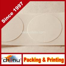 Sacos de padaria de papel Kraft com janelas e vedações perfuradas brancas (210228)
