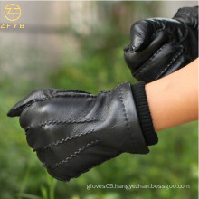 Customized fit hand made top grade deerskin men leather gloves
