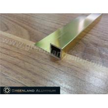 Alumínio borda quadrada Trim para azulejo com cor brilhante ouro