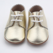 Lace Up Soft Sole Oxford Läder Baby Sko