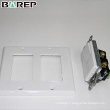 YGC-009 BAREP 1 Gang plaques d'interrupteur modulaires personnalisées décoratives