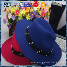 Hot selling good quality hot red women hat for 2016