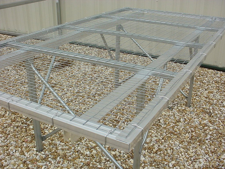 Fixed Top Greenhouse Bench