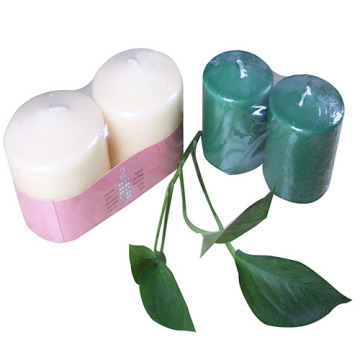 Colored votive candles