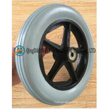 8 Inch Flat Free PU Foam Wheelchair Front Wheel