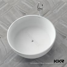 banheira de marfim, banheira de bacia de pedra, banheira de resina autoportante de pedra
