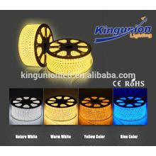 Hecho en China 5050 SMD IP67 caliente llevó la luz de tira llevada de alto voltaje ligero blanco 110V / 220V tira ligera llevada flexible