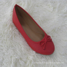 Chaussures de ballerine pliante à encolure dégagée de conception simple, les femmes peuvent mélanger six couleurs