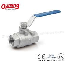 Válvula de esfera flutuante da linha do aço inoxidável 2PC com ISO 9001 (OEM)