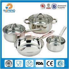 7pcs nomes de aço inoxidável de equipamentos de cozinha
