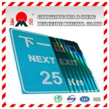 Acrylique haute intensité Grade Vinyle matière réfléchissante pour la sécurité routière autoroute directeurs signe (TM1800)