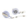 Custom color round shape magnetic badge reels with metal clip